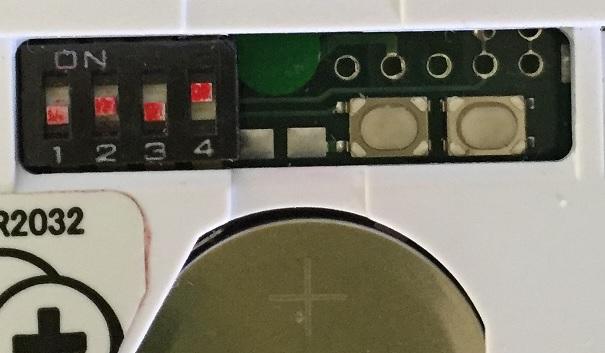 「できiPad2。」のモード切替とリセットボタン部